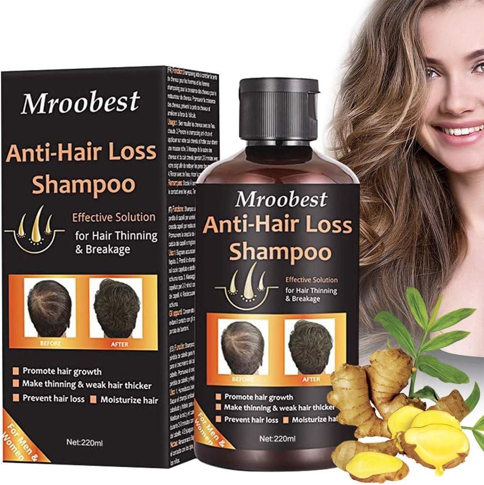Hair Loss Shampoo, Champú Anticaida, Anti Pérdida De Cabello, esencia de hierbas naturales, promueve más cabello ticker, para suero de crecimiento rápido del cabello para hombres y mujeres