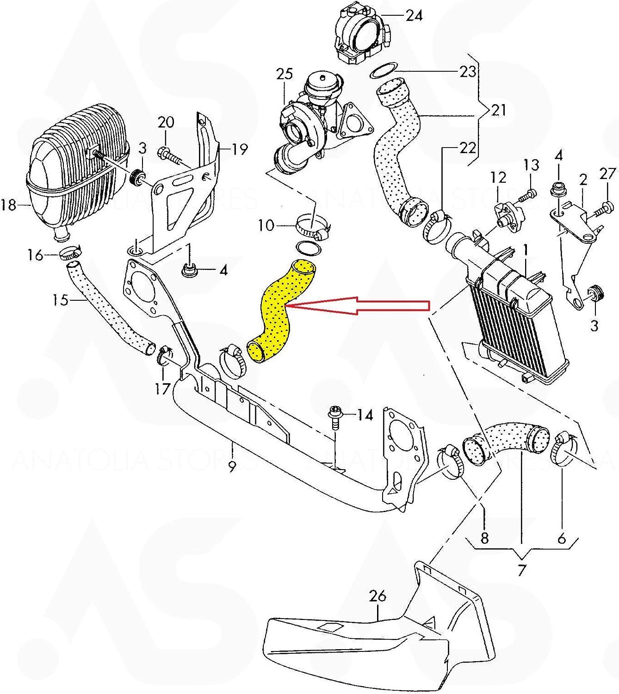 8E0145790L 8E0 145 790D 8E0145790J 8E0145790M 8E0145790P Tubo intercooler turbo 8E0145790D