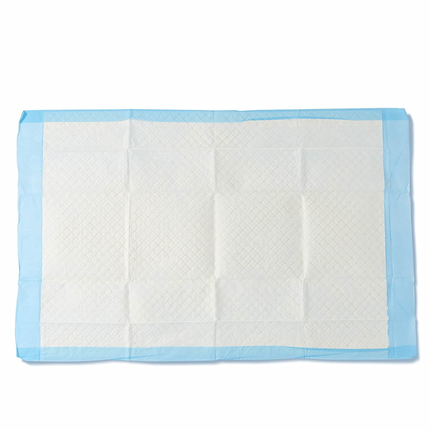 "Medline Moderate Absorbency 23"" x 36"" Quilted Fluff Disposable Underpads, 150 Per Case, 5 Per Bag, Great for Beds, Furniture, Surfaces"
