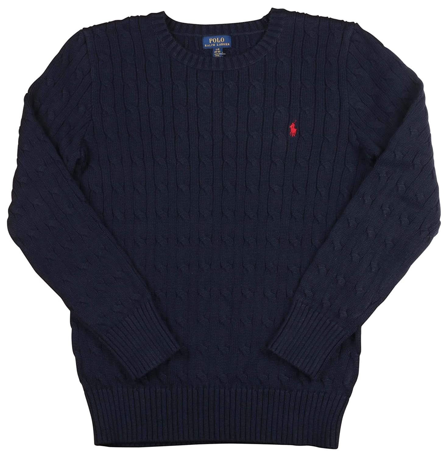 Polo Ralph Lauren Boy's Cable Knit Long Sleeve Crewneck Sweater