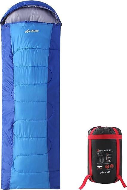 Amazon.com: SEMOO - Saco de dormir para mochilero - Ligero ...