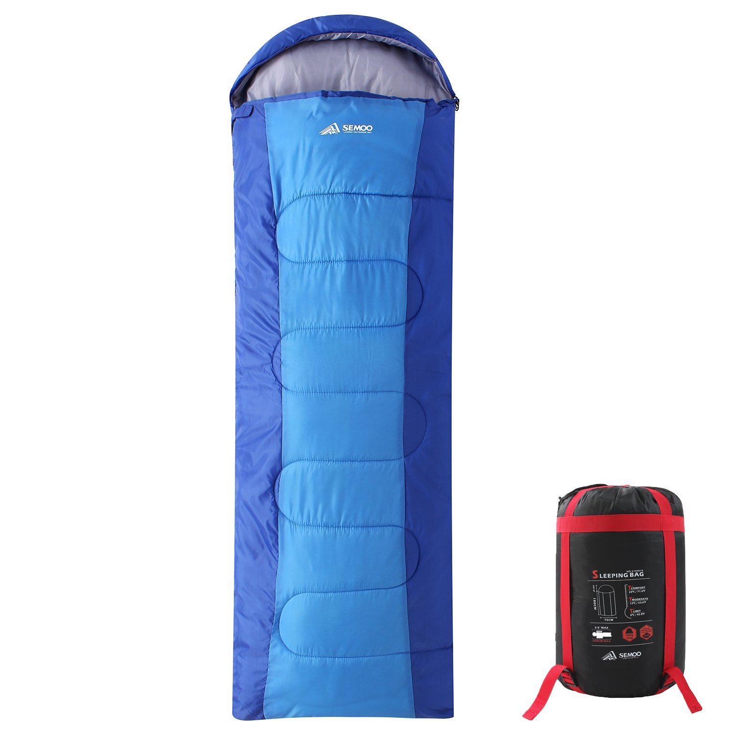 Amazon.com   SEMOO Backpacking Sleeping Bag - Lightweight Portable ... 467db6151f8e
