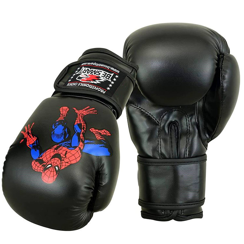 BeSmart Super Heroes 4oz 6oz Kids Boxing Gloves Junior Mitts Punch Bag Children Gel Pad
