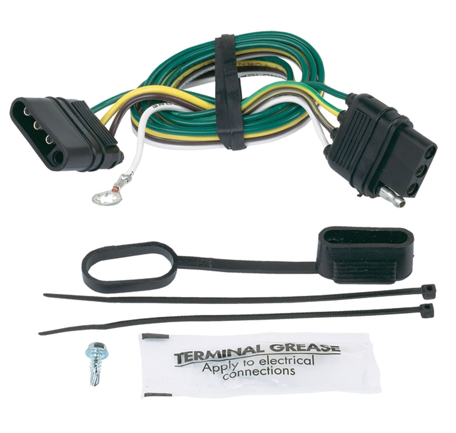 71GHBOYLsIL._SL1500_ amazon com hopkins 47105 4 wire flat extension with ground, 32 4 wire trailer harness extension at alyssarenee.co