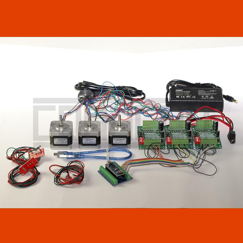 3D CNC USB Controlador de motor paso a paso Fresadora con Software ...