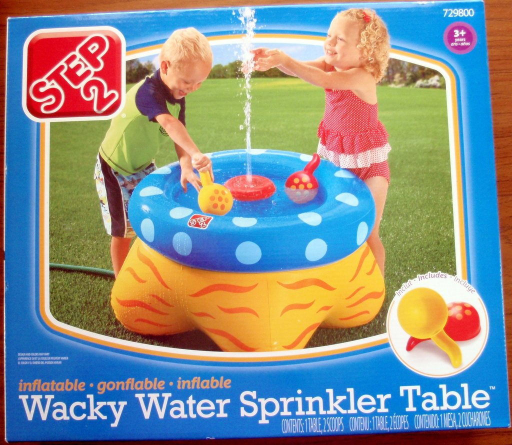 Inflatable Table Amazoncom Wacky Water Sprinkler Table Toys Games