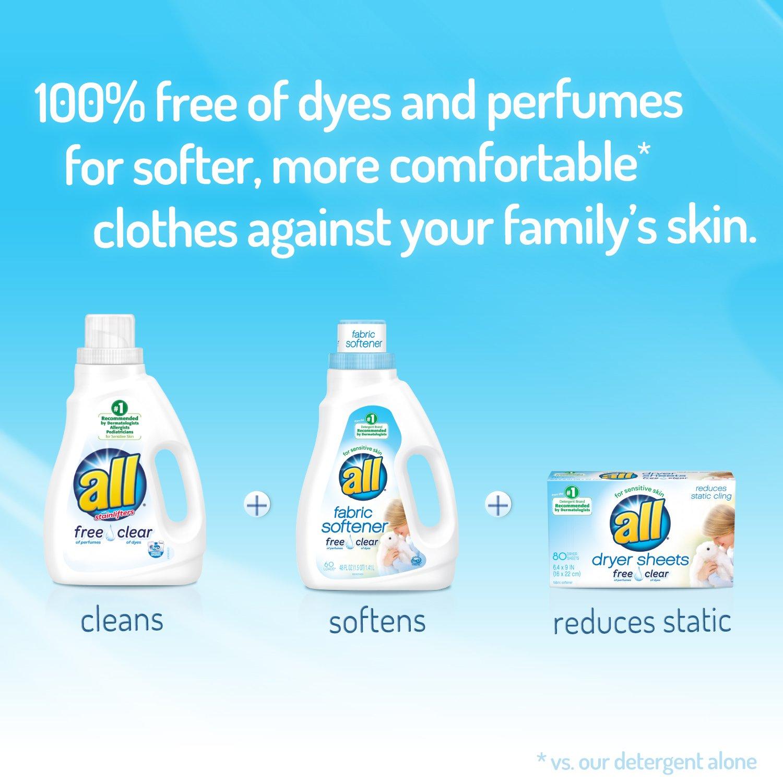 Amazon all Liquid Fabric Softener Free Clear for Sensitive