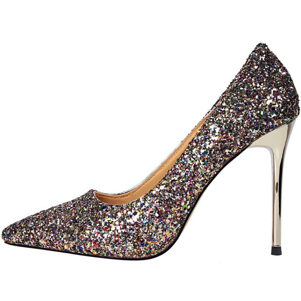 82c411ab3c038 Amazon.com   BIGTREE Sexy Shiny Sequins Wedding High Heel Shoes ...