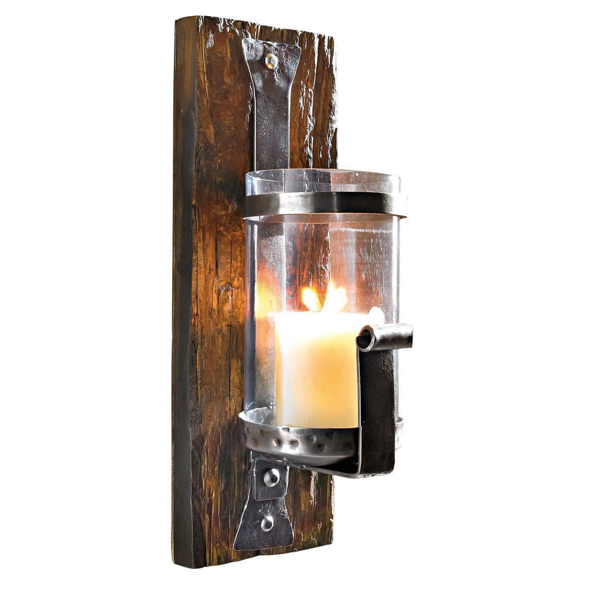 Portacandele da parete Wood PureDay