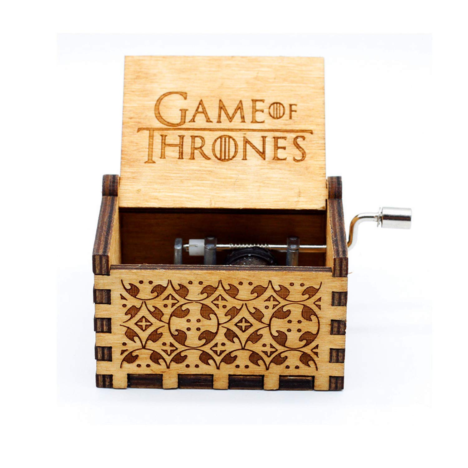 Funmo Pure hand-classical Game of Thrones music box hand-wooden music box creative wooden crafts best Gifts