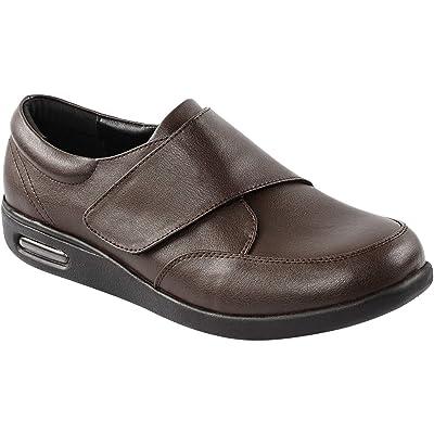 Goodant Men's Diabetic Velcro Shoes Lightweight Slip-on Sneaker for Elderly, Swollen Feet, Edema, Plantar Fasciitis | Loafers & Slip-Ons