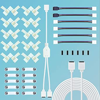 10 m mètre DEL RGB Rallonge Câble Câble De Raccordement Connecteur Barre de strip