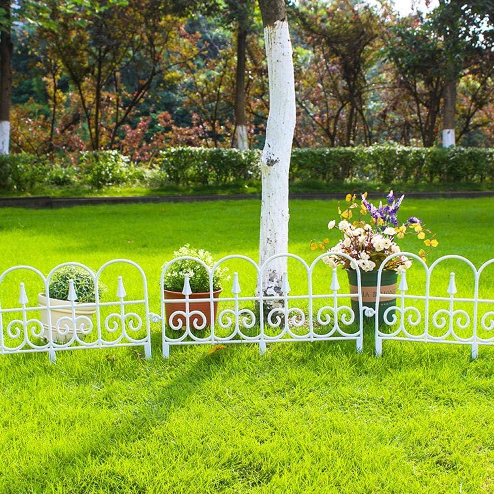 9.84 pies knowledgi 5 Piezas Paneles de Valla de Borde de jard/ín Borde Decorativo de jard/ín al Aire Libre Cercado de Borde de Planta Blanco Negro Cerca de Borde de c/ésped bordeando la Planta