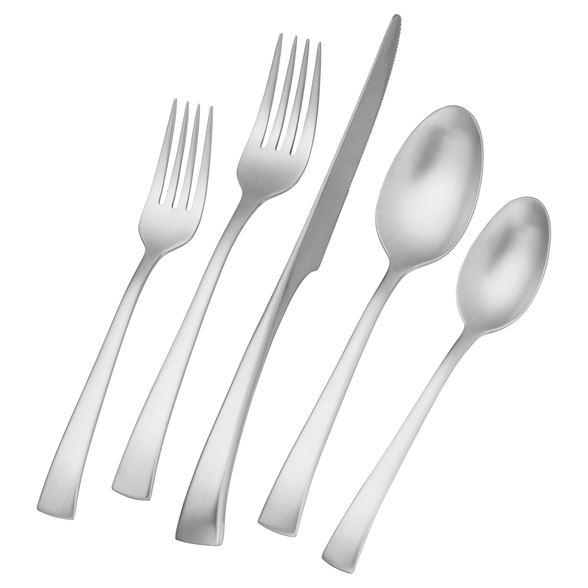 Zwilling JA Henckels 22769-345 Bellasera Satin 45-Piece 18/10'' Stainless Steel Flatware Set, Silver by ZWILLING J.A. Henckels (Image #1)