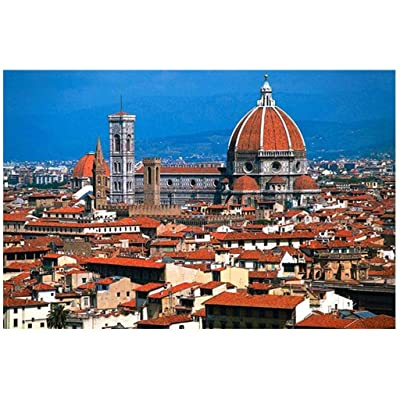 1000 Piece Jigsaw Puzzle for Adult- Piazzale Michelangelo Landscape - 1000 pc Wooden Jigsaw Puzzle Game Interesting Toys - Hand Made Puzzles Decompression Game Difficulty Funny: Toys & Games
