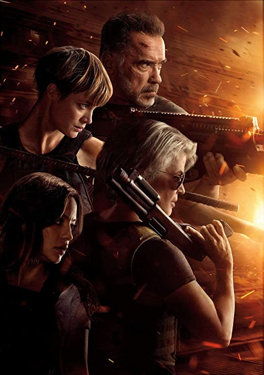 Terminator Dark Fate Movie Poster 24x36 Inch Wall Art Portrait Print