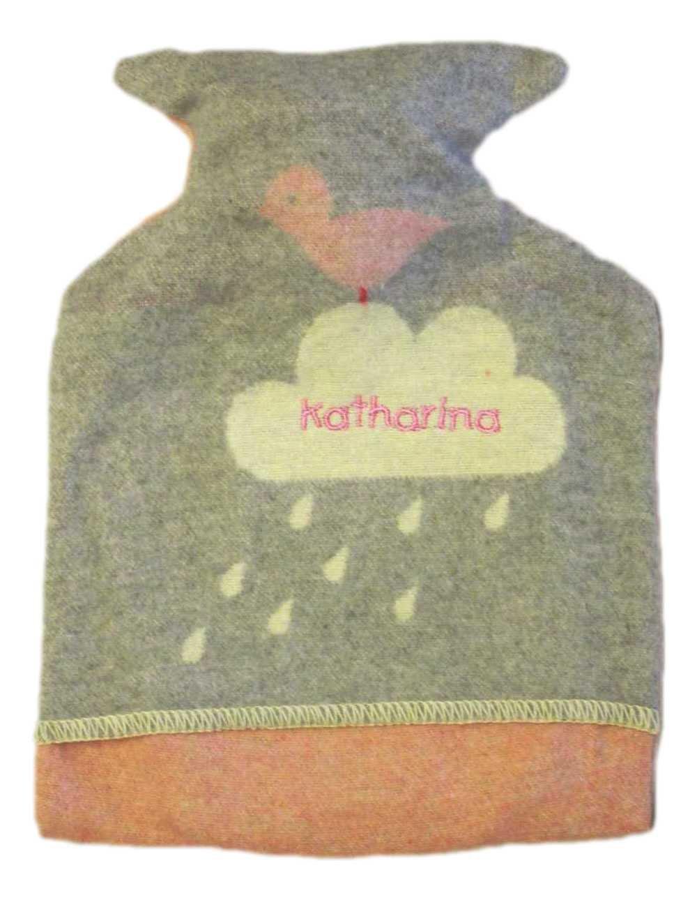 Herz rosa Taufe Ostern und Weihnachten Fussenegger Baby-und Kinderw/ärmflasche mit Ihrem Wunschnamen bestickt in verschiedenen Motiven ideales Geschenk zur Geburt