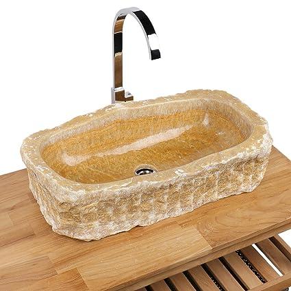 Lavabo pietra naturale onice per lavandino pezzo unico 62 x ...