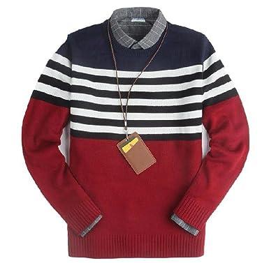 cd511ec6cb45f   UN ANANAS   ニット 長袖 ボーダー メンズ カジュアル ファッション シンプル 編み セーター ネイビー グレー (