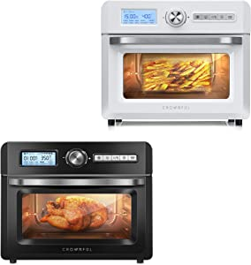 CROWNFUL 19 Quart Air Fryer Toaster Oven, Convection Roaster with Rotisserie & Dehydrator, 10-in-1 Countertop Oven, Original Recipe and 8 Accessories Included, UL Listed