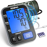 RENPHO Blood Pressure Monitor Upper Arm for Home Use with Speaker, Accurate Automatic...