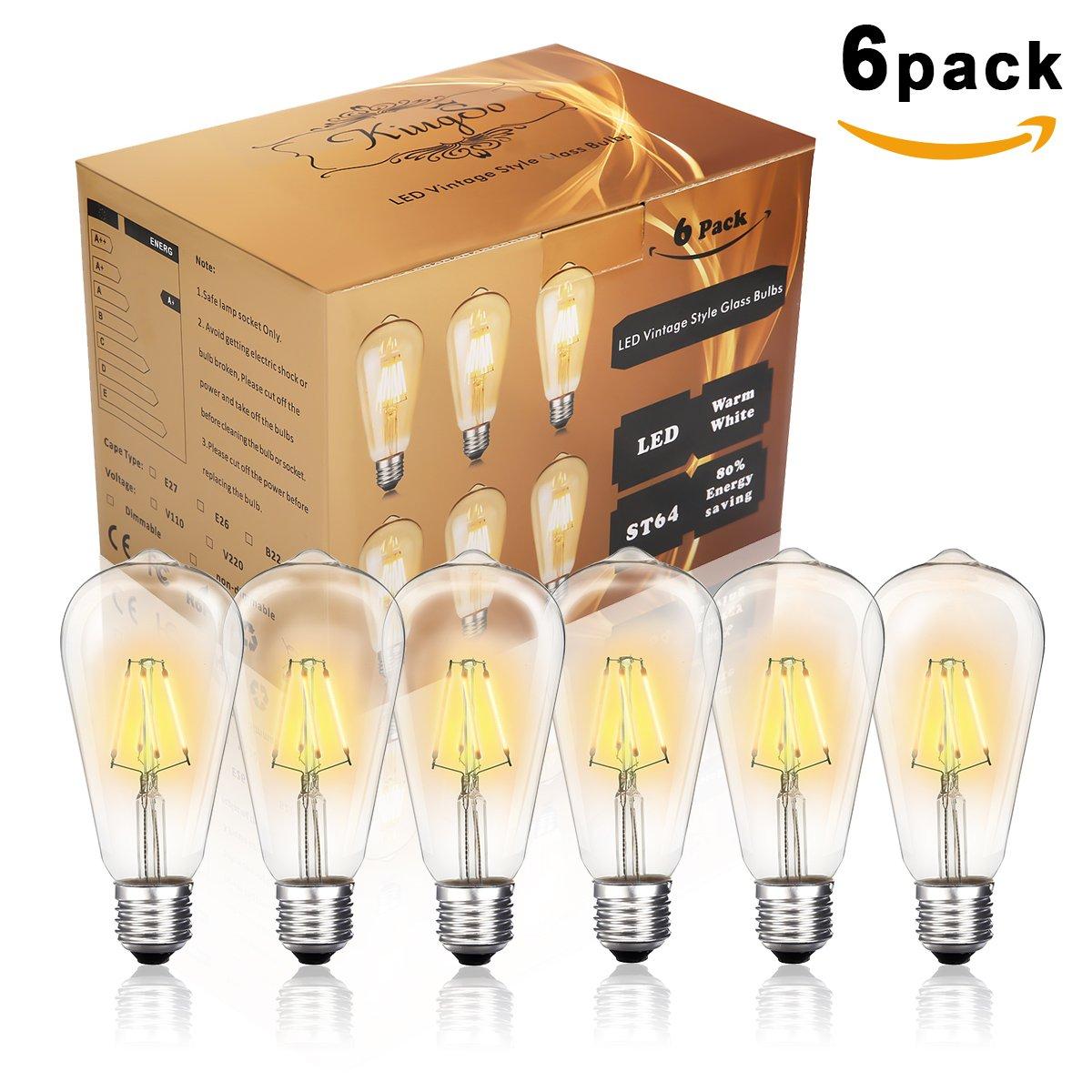 E27 Led Vintage St64 Ampoule Edison 4w Kingso 2200kÉconomie UMSqzGVp