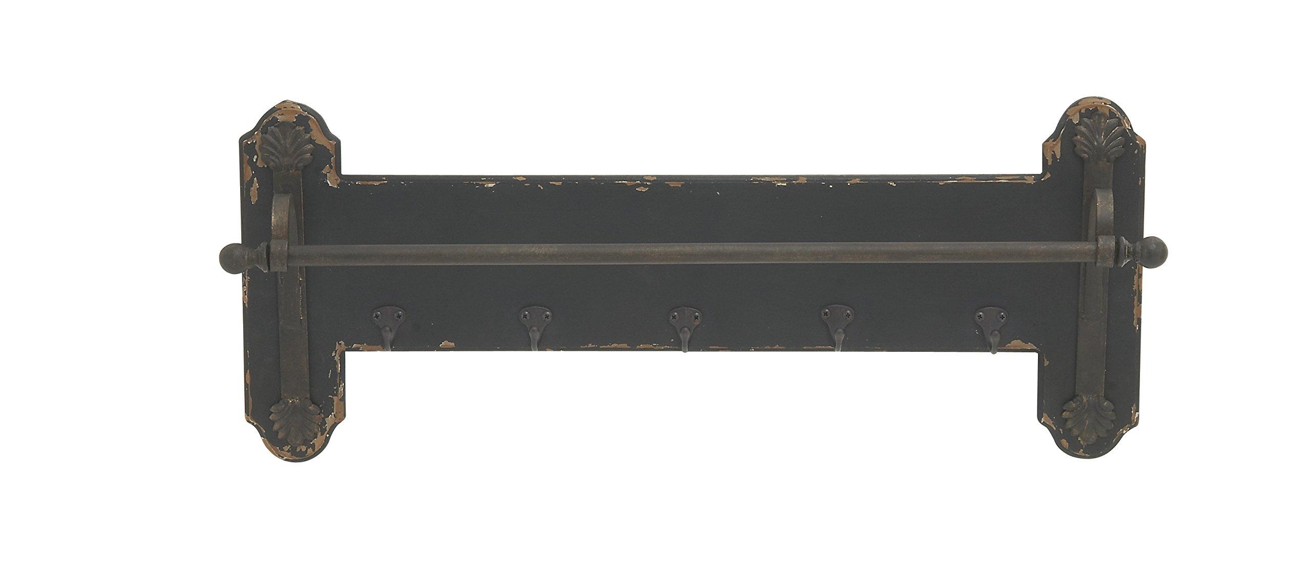 Deco 79 60943 Wood & Metal Towel Rack