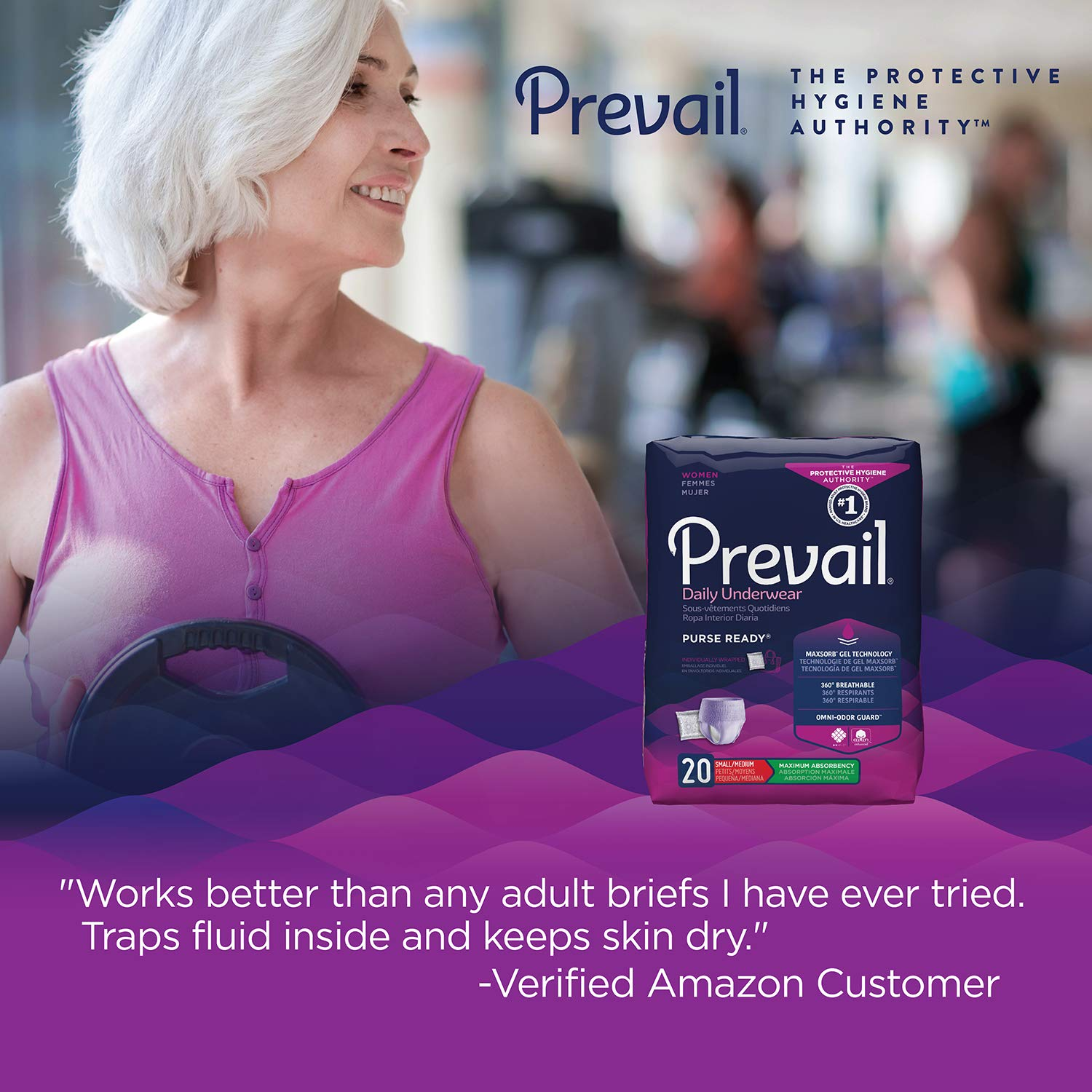 Amazon.com: Prevail Maximum Absorbency Incontinence Underwear for Women, Extra Large, 48 Count: Health & Personal Care