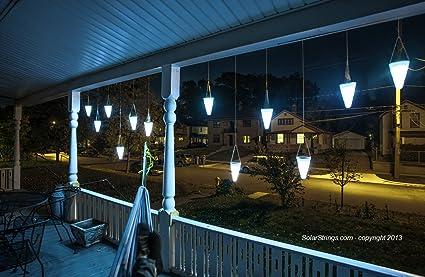 Amazon hanging solar garden light nine 9 cornet shaped hanging solar garden light nine 9 cornet shaped solar lights solar tree workwithnaturefo