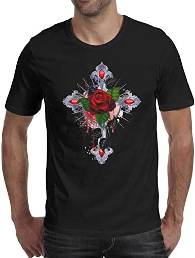 Crazy Face Mens Gothic Biker Style T-Shirt
