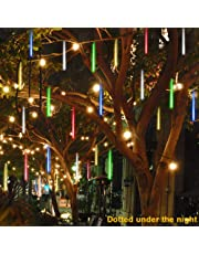 Christmas Hot Sale!!!Natarura Party LED Lights Meteor Shower Rain Snowfall Xmas Tree Garden Outdoor