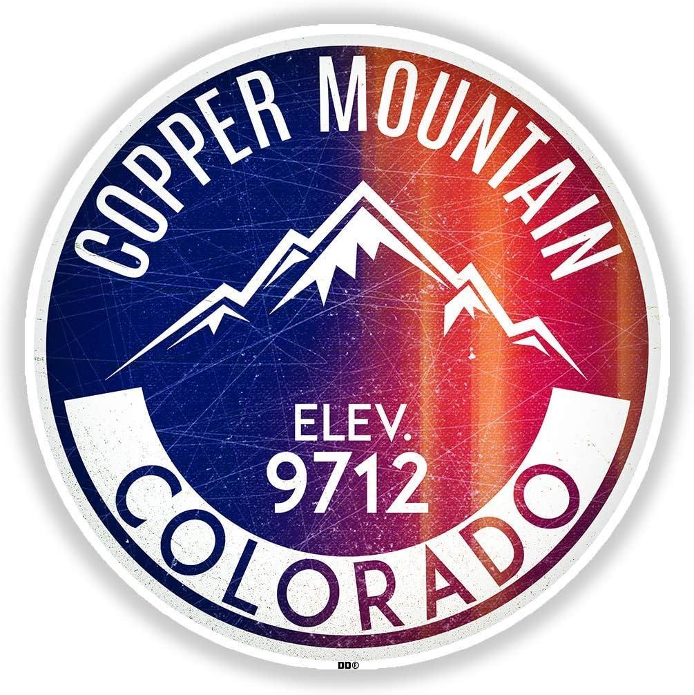"""Ski Copper Mountain Vinyl Decal Sticker Colorado Skiing 3"""" Laptop Bumper Car"""
