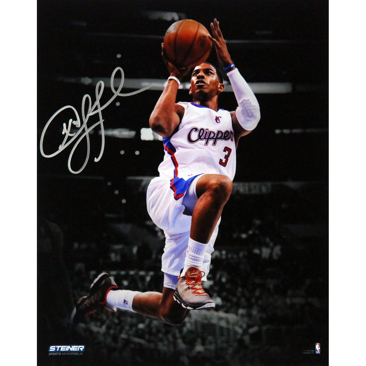 NBA Los Angeles Clippers Chris Paul Layup Against Lakers Signed Vertical Photo, 8 x 10-Feet