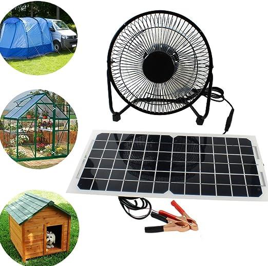 Peakstrom Ventilador USB de Panel Solar 10 W 12 V para Camping ...