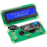 LGDehome IIC/I2C/TWI LCD 1602 16x2 Serial Interface Adapter Module Blue Backlight for Arduino UNO R3 MEGA2560(Pack of 2)