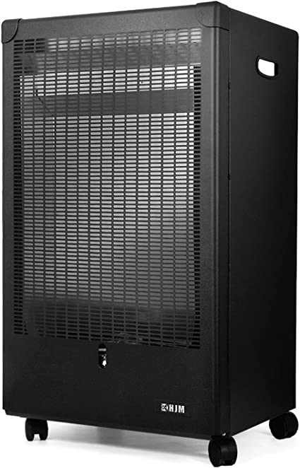 HJM GA4200 Estufa Gas, 4.2 W, Acero, Negro