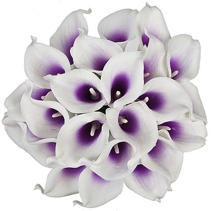 Amazon luyue calla lily bridal wedding bouquet head lataex real luyue calla lily bridal wedding bouquet head lataex real touch flower bouquets pack of 20 mightylinksfo