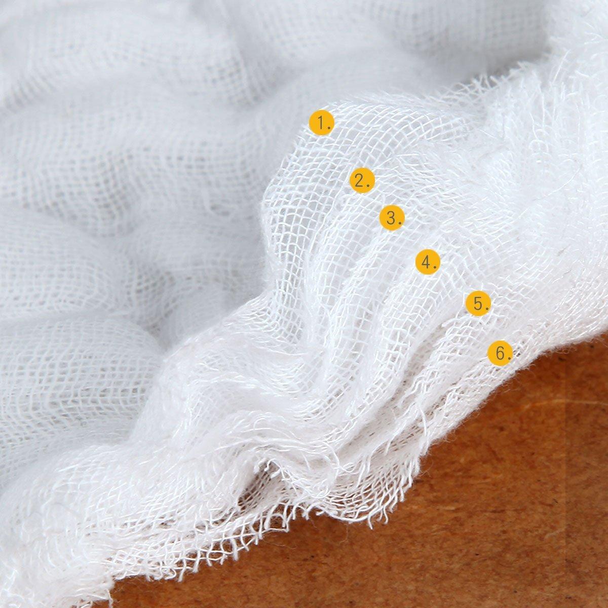 Musselin Waschlappen Baby Wei/ß Baumwolle Handtuch 6er Set 30 x 30 cm