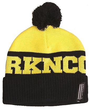 Amazon.com  Dark N  Cold Inner City Beanie Black Yellow  Clothing 1f33db1fea7