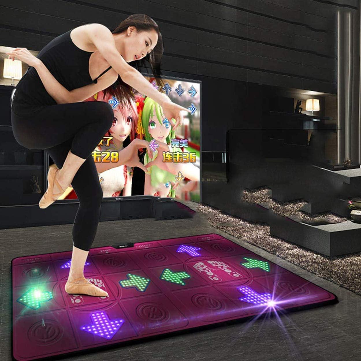 Alfombrilla De Juego De Pasos para Computadora Esterilla De Yoga con Dos Asas Doble Usuario HD Mr.LQ Alfombrilla De Baile Doble para TV USB M/áquina De Baile De 11 Mm