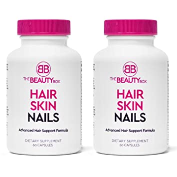 The Beauty Box Hair Skin And Nails Supplement With Biotin To Grow Faster Healthier Thicker Hair And Strong Nails And Boost Glowing Skin Helps