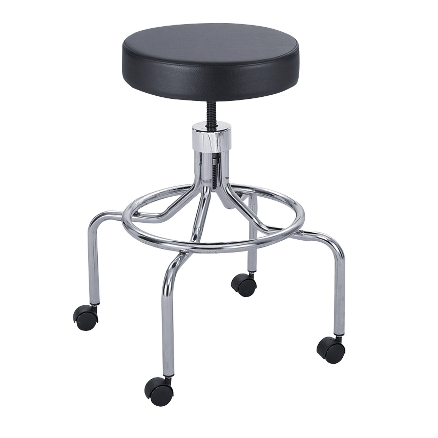 Safco Products 3433BL Lab Stool, High Base with Screw Lift, Black