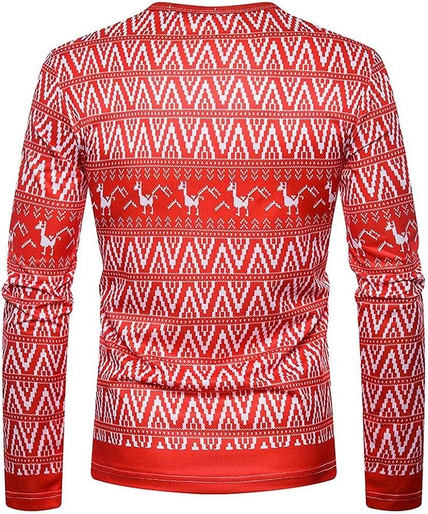 Gran promoción! Hombres Otoño Invierno Navidad Impresión Top Hombres Camiseta de Manga Larga Blusa de Internet: Amazon.es: Ropa y accesorios