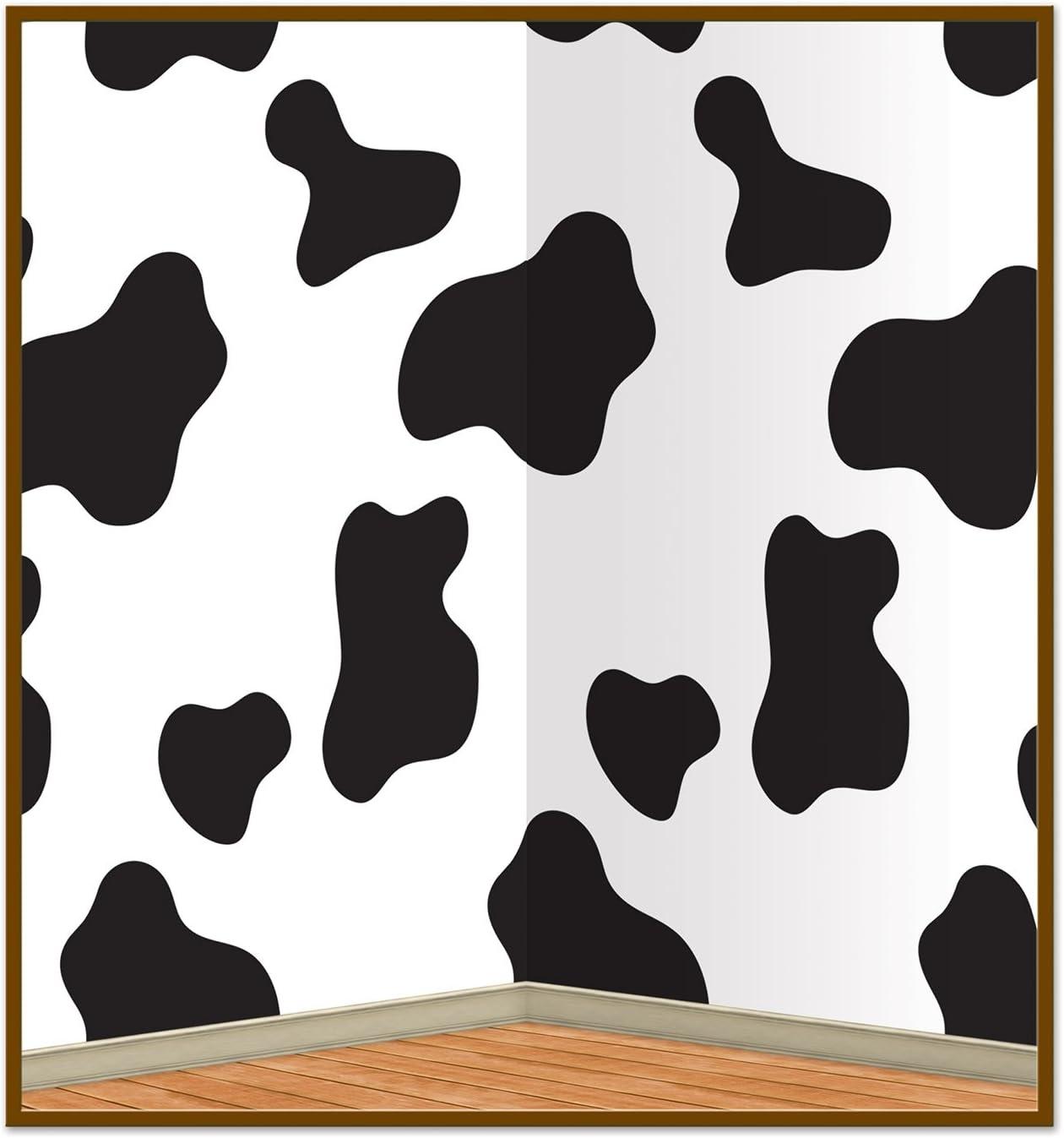 White//Black Beistle 60830 Cow Print Cowboy Hat