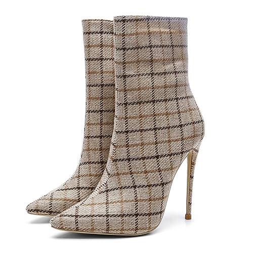 Botines para Mujer 2018 Paño Otoño/Invierno Nuevo Marcado Sexy Martins Boots/Ladies Super