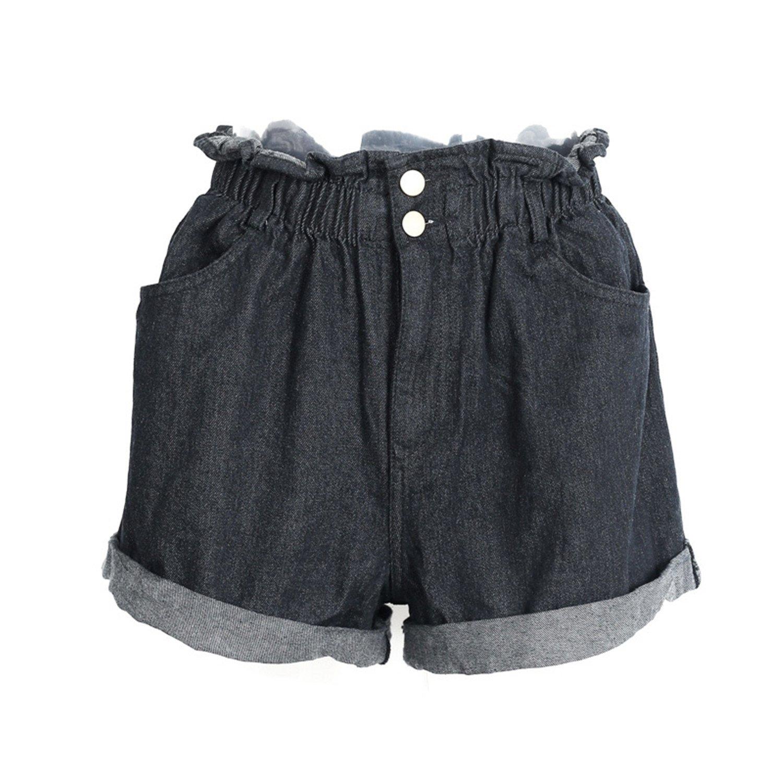 Frozac Casual Blue Hemming Denim Shorts Women Button Summer Beach Black  Jeans Shorts Female New Pocket High Waist Shorts at Amazon Women s Clothing  store  4c9cdb5d2