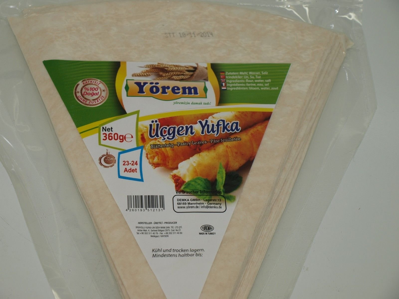 Pastry Leaves Triangle 1 Pack - 23 Pieces