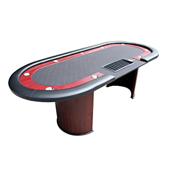 Captivating IDS Professional Poker Table 10 Players With Wooden Racetrack Cup Holders  Plastic Chip Trays Drop Box