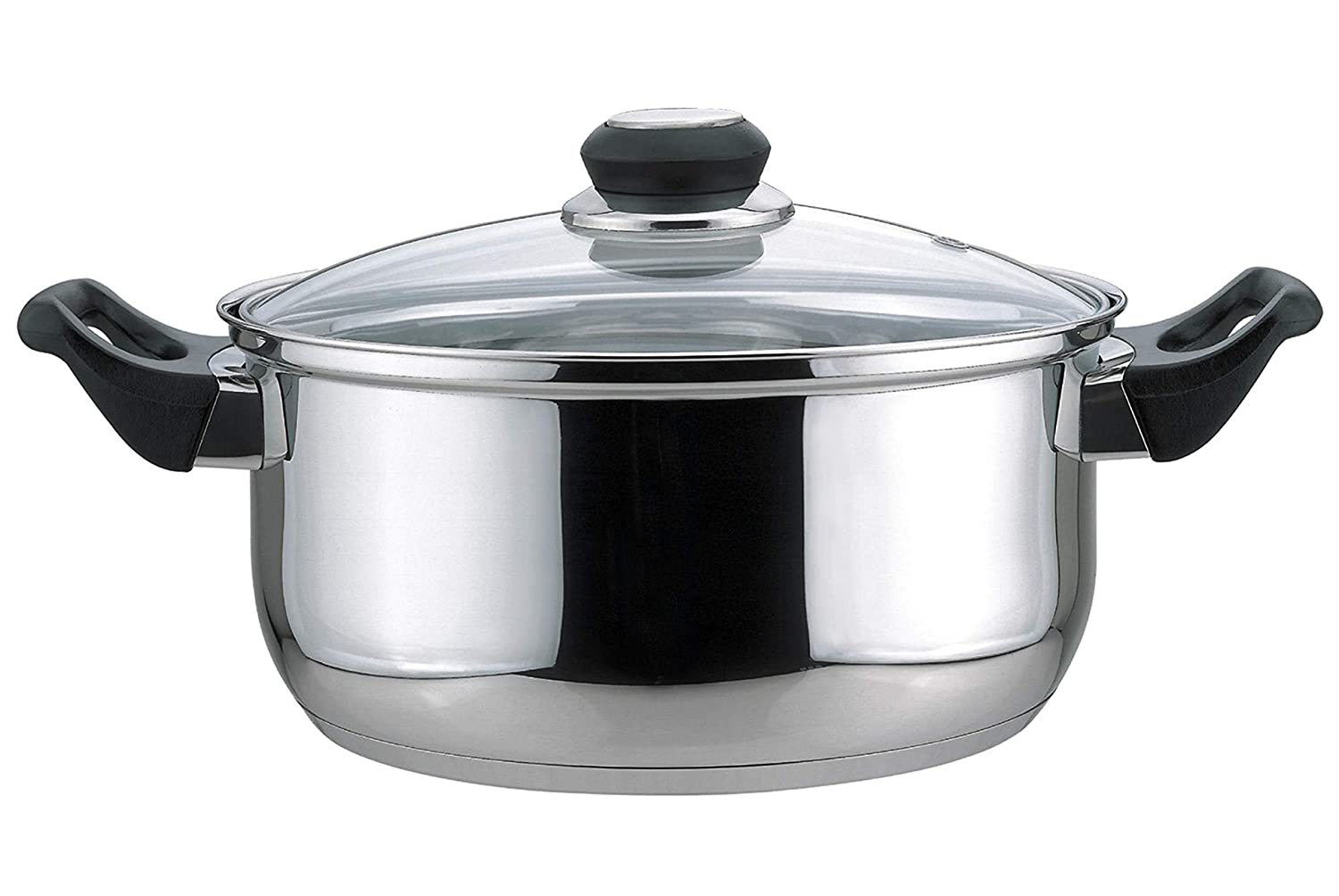 Culinary Edge 01005 Dutch Oven with Glass Cover, 5.5-Quart