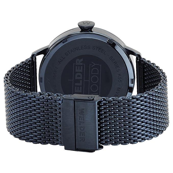 WRC806 Welder Moody - Reloj unisex en acero con acabado IP azul. Armys tipo malla.: Amazon.es: Relojes